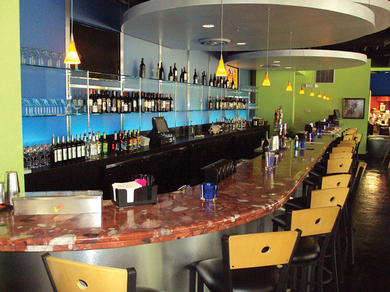 Delightful Bar Countertops Charlotte Commercial