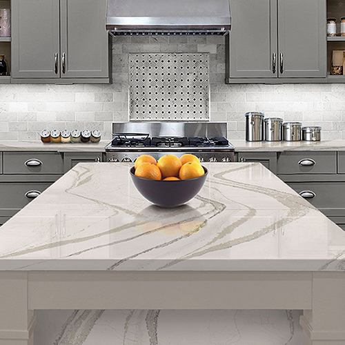 kitchen quartz countertops brown PRO TOPS Charlotte