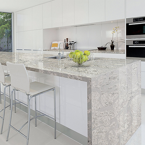 kitchen countertops quartz material