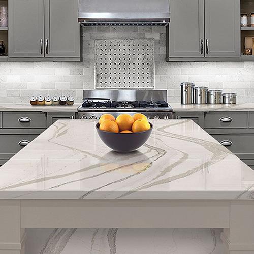 kitchen quartz countertops brown PRO TOPS Charlotte
