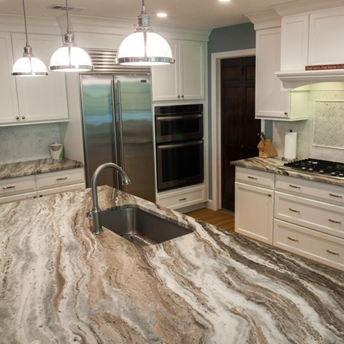 kitchen quartzite countertops brown PRO TOPS Charlotte